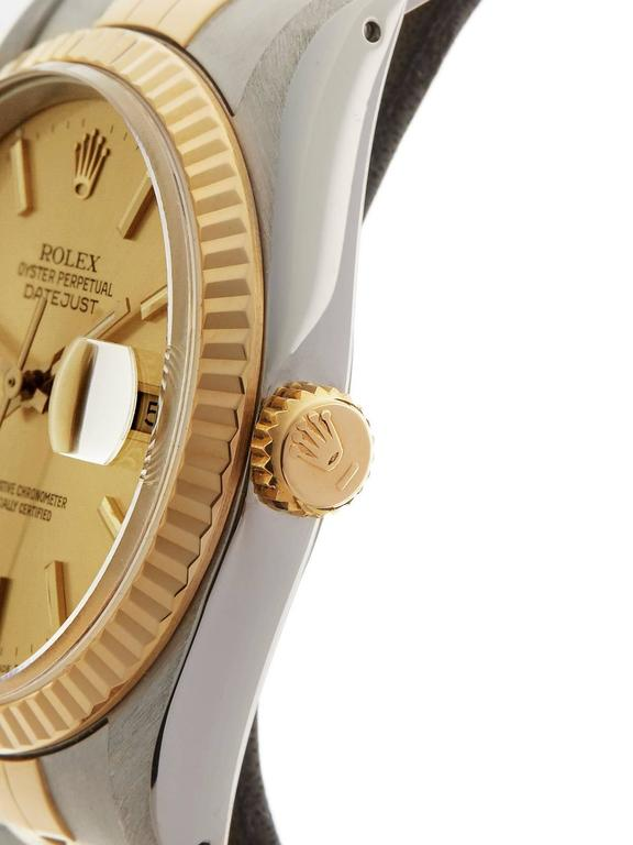 Rolex Datejust Stainless Steel/18 Karat Yellow Gold Unisex 16233 4