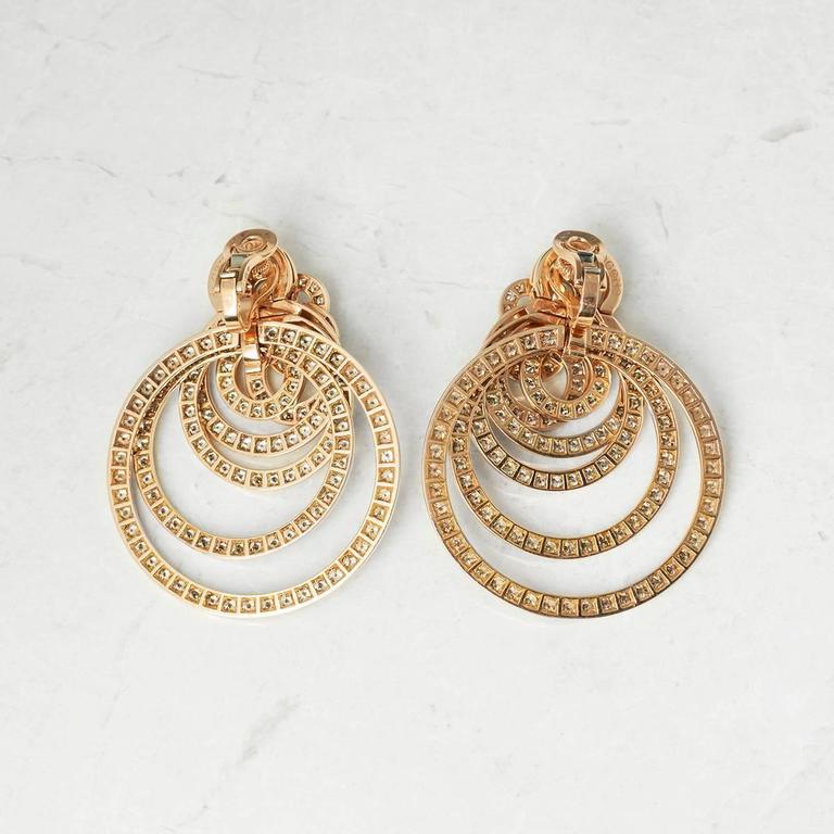 Serial Earrings: De Grisogono 22.00 Carat Diamond Rose Gold Gypsy Earrings