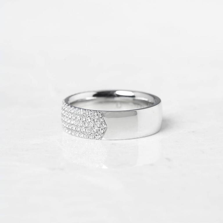 Tiffany And Co White Gold Five Row 0 90 Carat Diamond