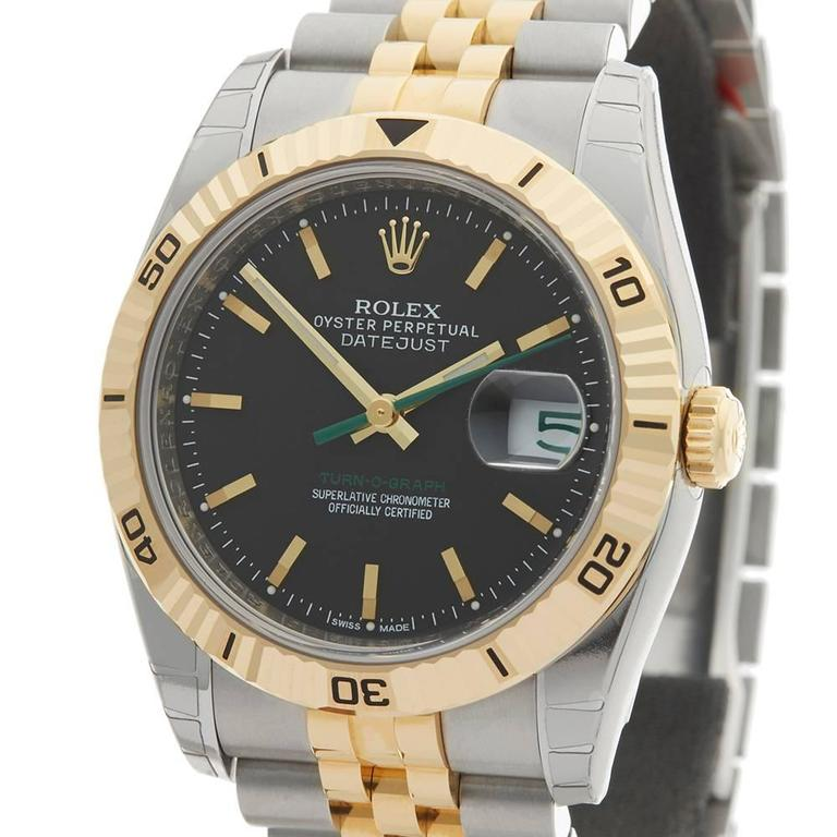 Women's or Men's Rolex Datejust Turn-o-Graph Gents 116263 Watch For Sale