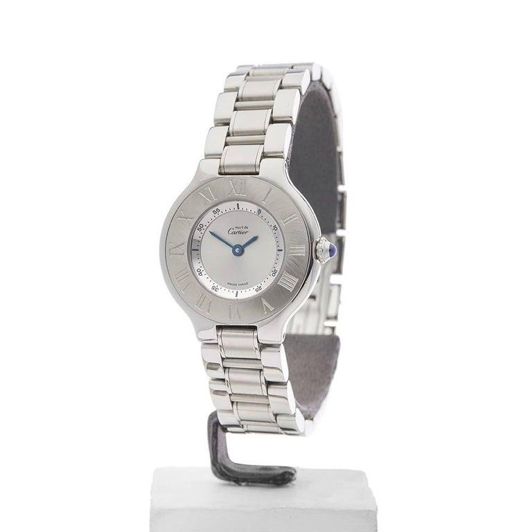 Cartier Ladies Stainless Steel Must De Cartier 21 Quartz Wristwatch, circa 2006 2