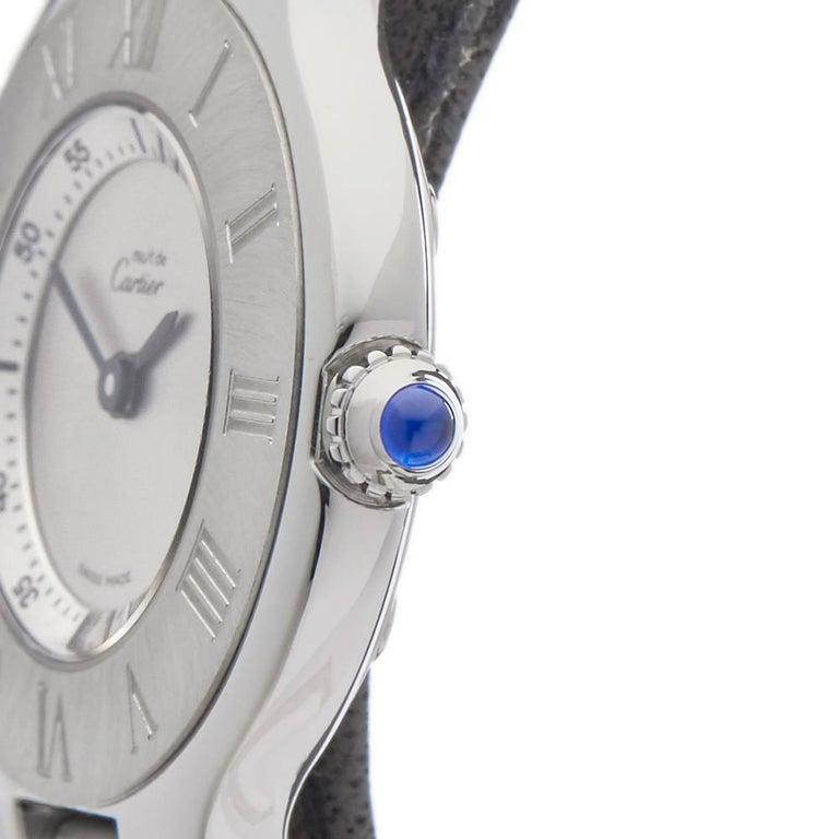 Cartier Ladies Stainless Steel Must De Cartier 21 Quartz Wristwatch, circa 2006 3