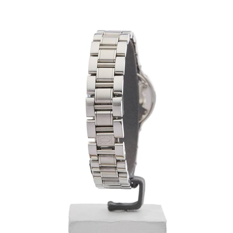 Cartier Ladies Stainless Steel Must De Cartier 21 Quartz Wristwatch, circa 2006 For Sale 2