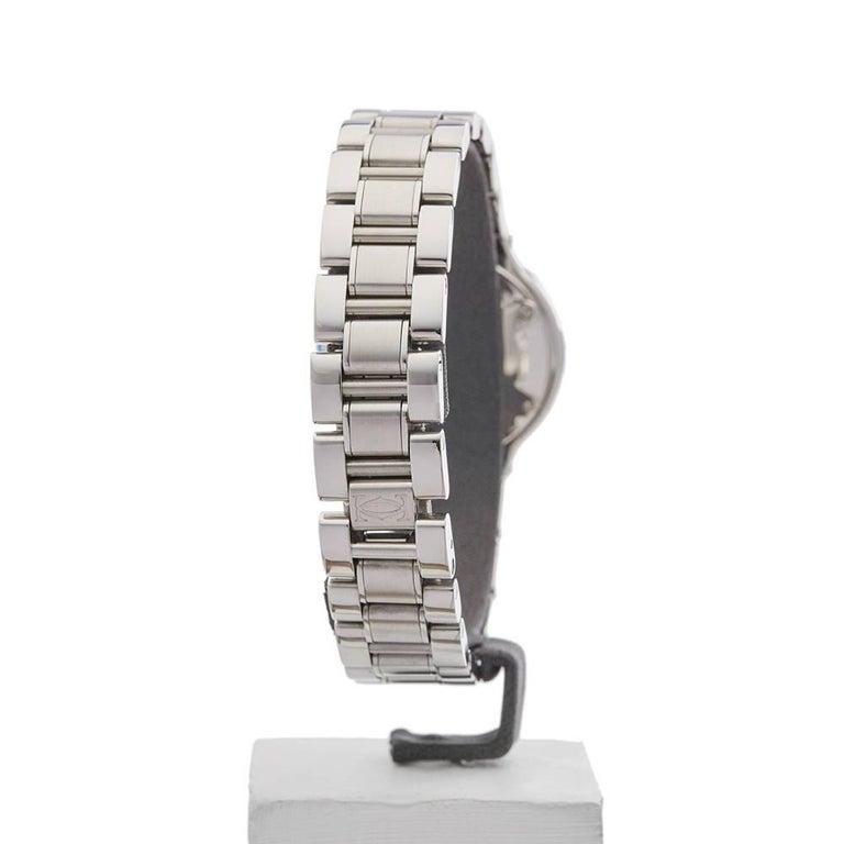 Cartier Ladies Stainless Steel Must De Cartier 21 Quartz Wristwatch, circa 2006 6