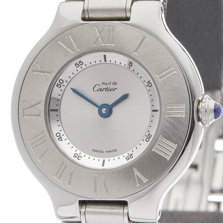 Cartier Ladies Stainless Steel Must De Cartier 21 Quartz Wristwatch, circa 2006 4