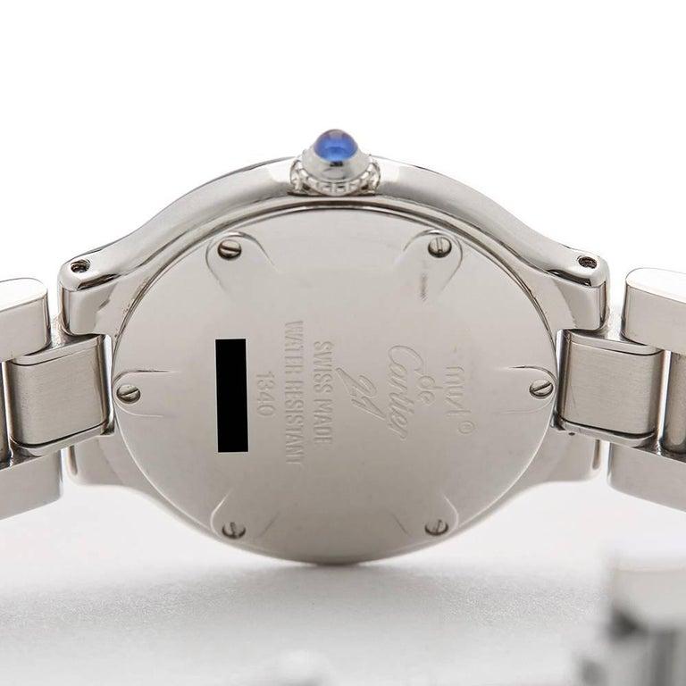 Cartier Ladies Stainless Steel Must De Cartier 21 Quartz Wristwatch, circa 2006 8