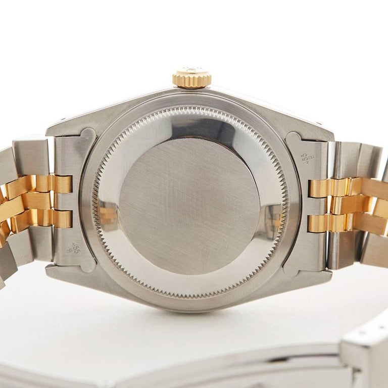Rolex Yellow Gold Stainless Steel Datejust Automatic Wristwatch Ref 16233, 1991 For Sale 4