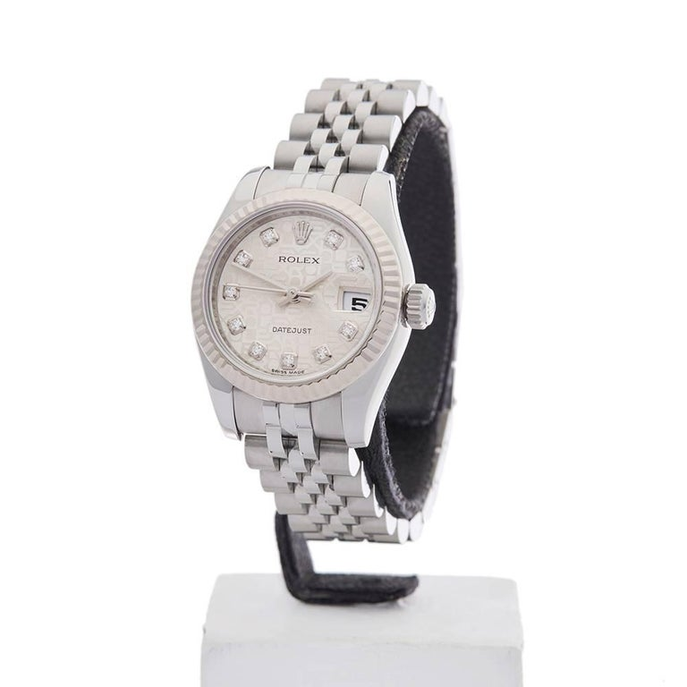 Ref: W4017 Model Number: 179174 Serial Number: 5P9***** Condition: 9 - Excellent Condition Gender: Ladies Age: 19th October 2011 Case Diameter: 26 mm Case Size: 26mm Box And Papers: Box And Guarantee Movement: Automatic Case: Stainless steel &