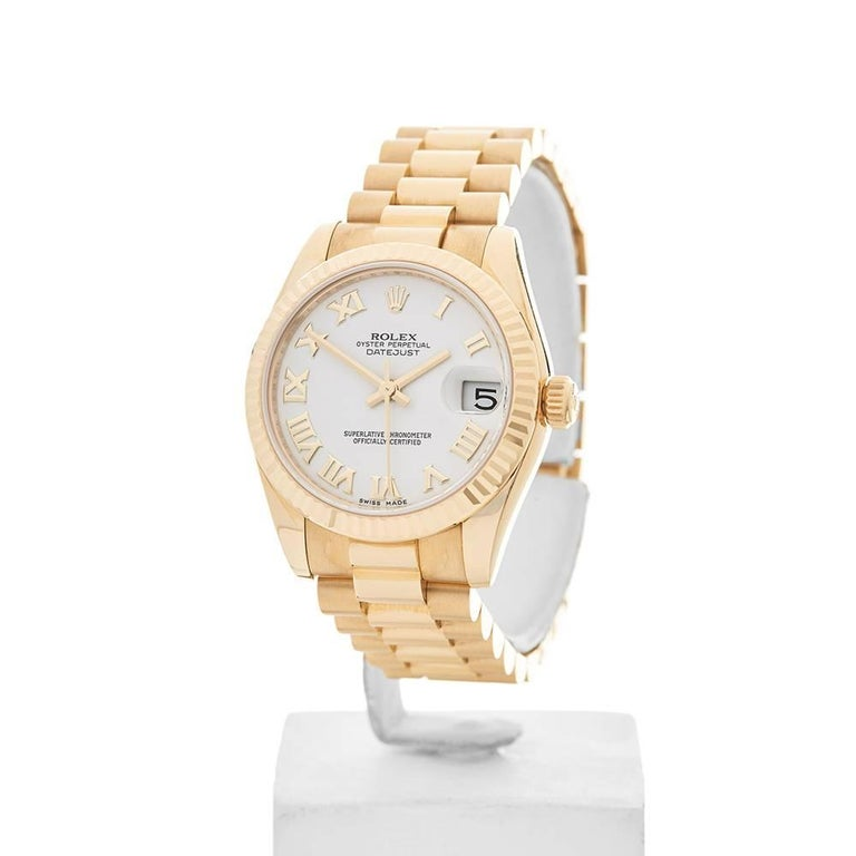 Rolex Ladies Yellow Gold Datejust Automatic Wristwatch Ref ...