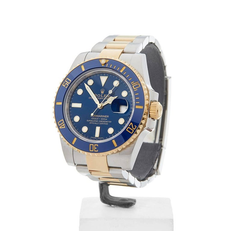 Rolex Yellow Gold Stainless Steel Submariner Automatic Wristwatch, 2017 2