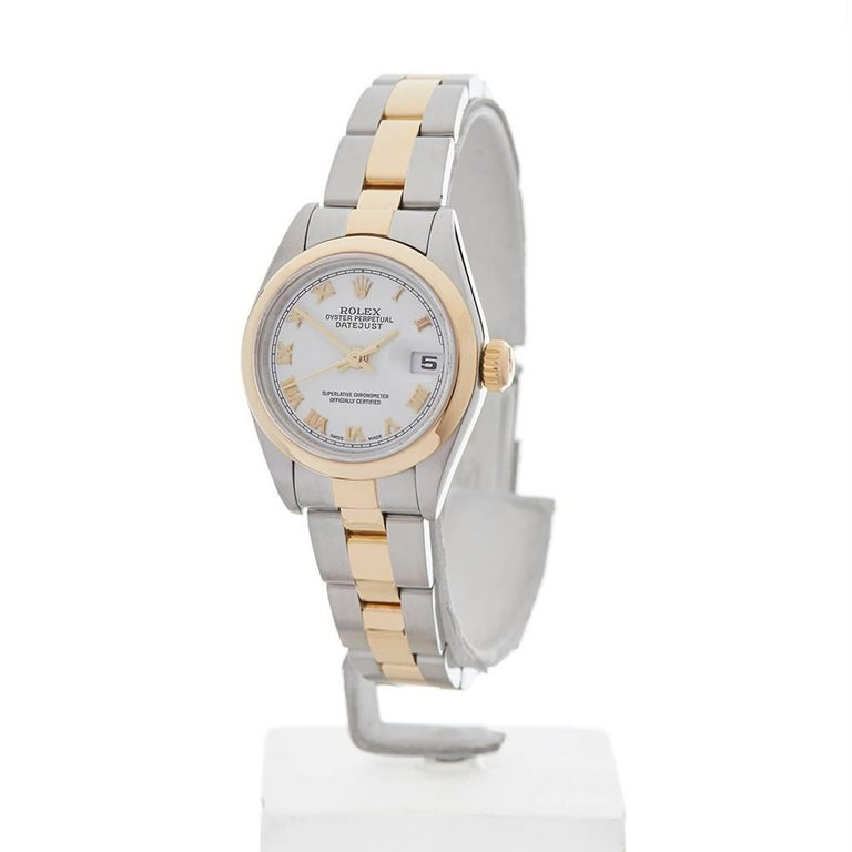 Rolex Ladies Yellow Gold Stainless Steel Datejust Automatic Wristwatch Ref 79173 2