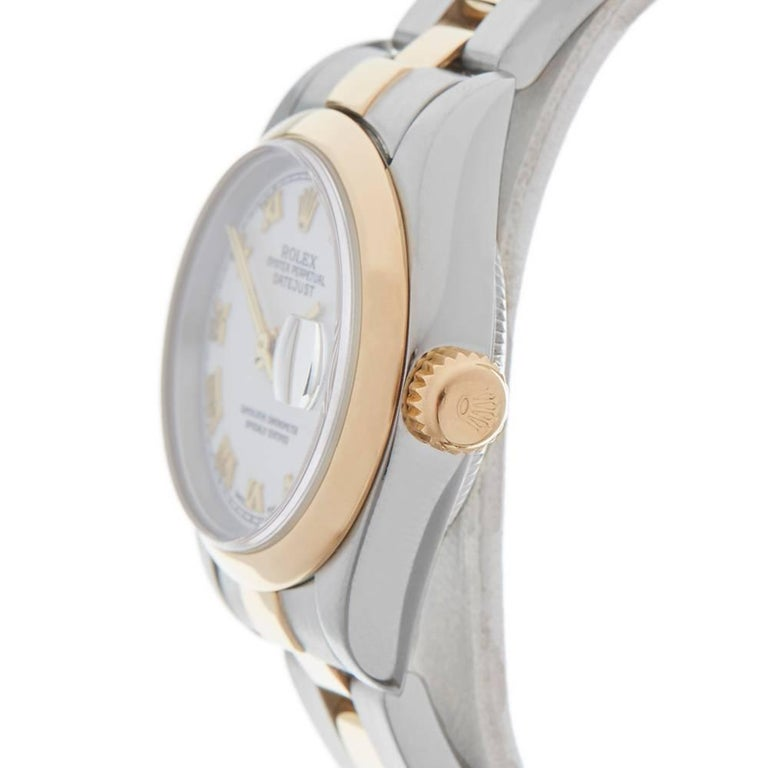 Women's Rolex Ladies Yellow Gold Stainless Steel Datejust Automatic Wristwatch Ref 79173 For Sale