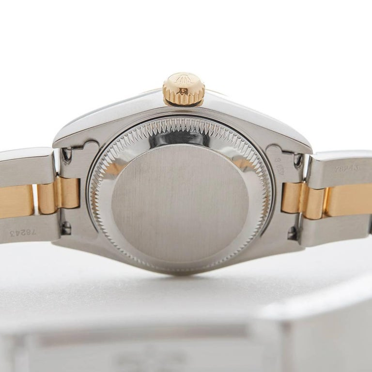 Rolex Ladies Yellow Gold Stainless Steel Datejust Automatic Wristwatch Ref 79173 For Sale 4