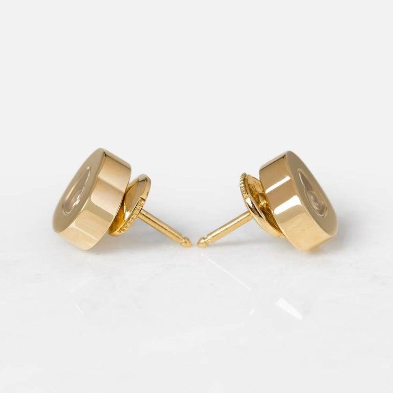 Women's Chopard Happy Diamonds Stud Earrings For Sale
