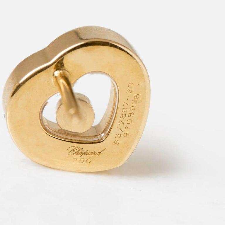 Chopard Happy Diamonds Stud Earrings For Sale 4