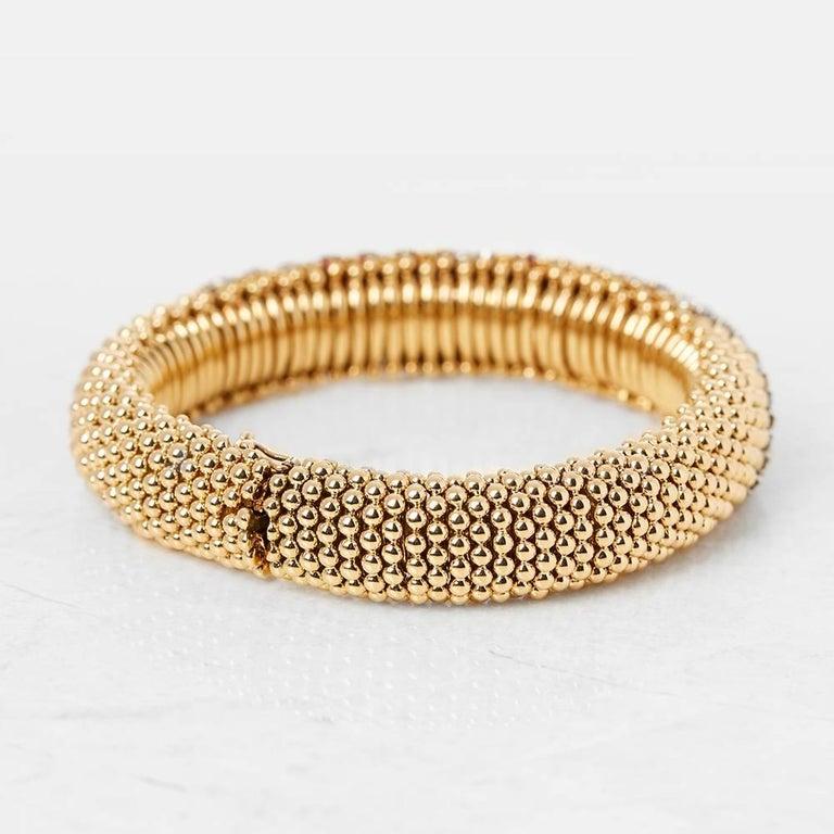 Women's Van Cleef & Arpels 18 Karat Yellow Gold Ruby & Diamond Vintage Bracelet  For Sale