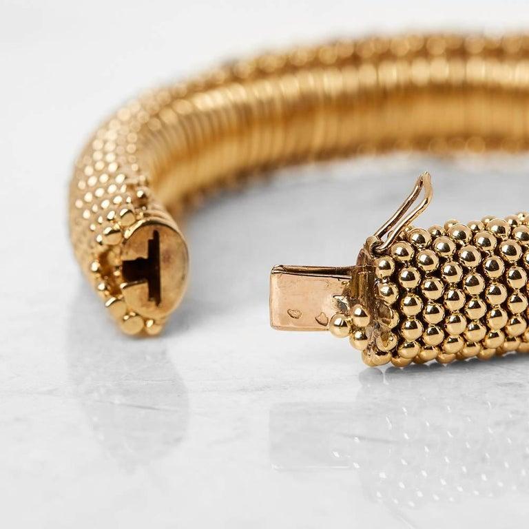 Van Cleef & Arpels 18 Karat Yellow Gold Ruby & Diamond Vintage Bracelet  For Sale 1