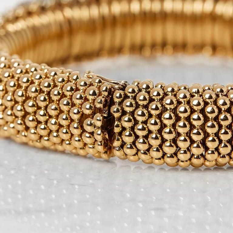 Van Cleef & Arpels 18 Karat Yellow Gold Ruby & Diamond Vintage Bracelet  In Excellent Condition For Sale In Bishop's Stortford, Hertfordshire