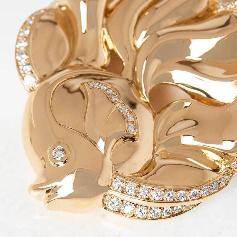 Code: COM1174 Brand: Van Cleef & Arpels Description:  18k Yellow Gold Diamond Fish Brooch Accompanied With: Presentation Box Gender: Ladies Brooch Length: 4cm Brooch Width: 4.4cm Condition: 9 Material: Yellow Gold Total Weight: 25.50g