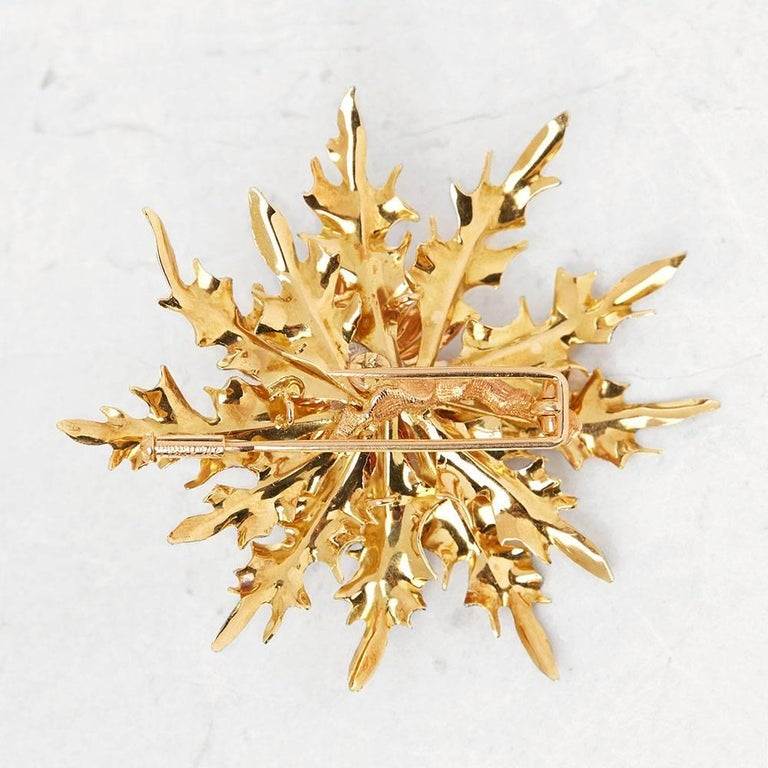 Code: COM1177 Brand: Buccellati Description: 18k Yellow, White & Rose Gold Thistle Brooch Accompanied With: Presentation Box Gender: Ladies Brooch Length: 6.2cm Brooch Width: 6cm Condition: 8 Material: Tri-Colour Total Weight: 19.29g