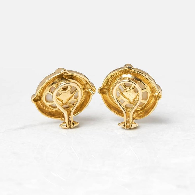 Xupes Code: COM1181 Brand: Tiffany & Co. Description: 18k Yellow Gold Mabe Pearl Earrings Accompanied With: Xupes Presentation Box Gender: Ladies Earring Length: 2.2cm Earring Width: 2.2cm Earring Back: Omega Condition: 9 Material: Yellow Gold Total