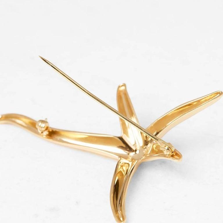 Tiffany & Co. 18 Karat Yellow Gold Starfish Elsa Peretti Brooch  For Sale 1