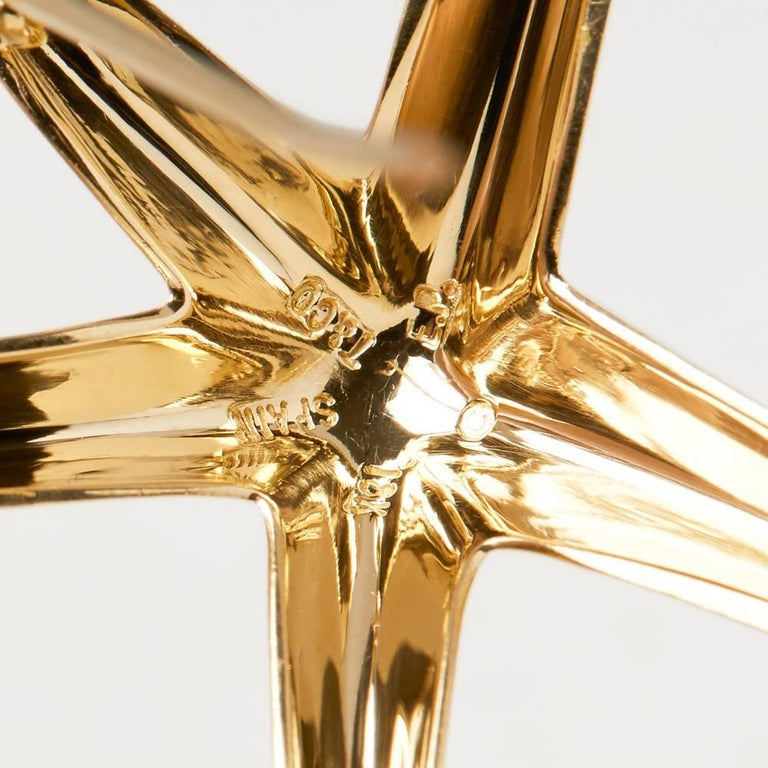 Tiffany & Co. 18 Karat Yellow Gold Starfish Elsa Peretti Brooch  For Sale 2