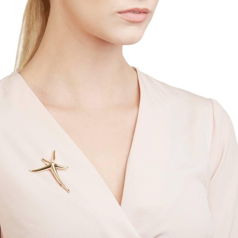 Tiffany & Co. 18 Karat Yellow Gold Starfish Elsa Peretti Brooch  For Sale 3