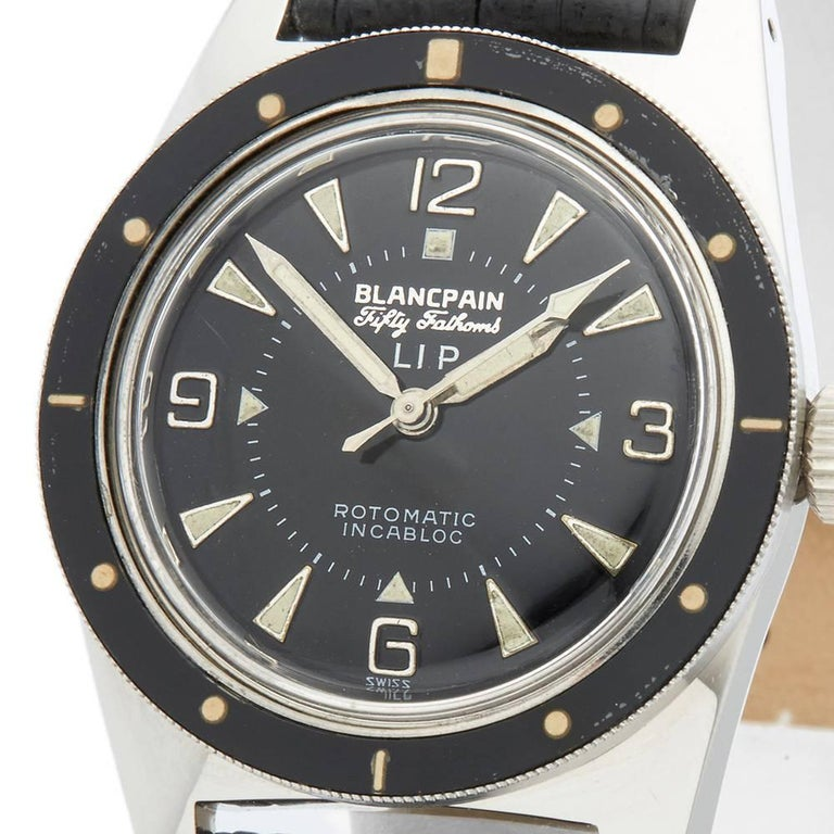 Blancpain Stainless Steel Fifty Fathoms Automatic Wristwatch, 1970 In Excellent Condition For Sale In Bishop's Stortford, Hertfordshire