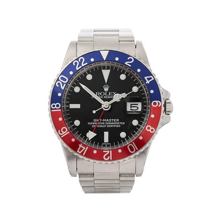 Rolex Gmt Master Pepsi Stainless Steel Gents 1675