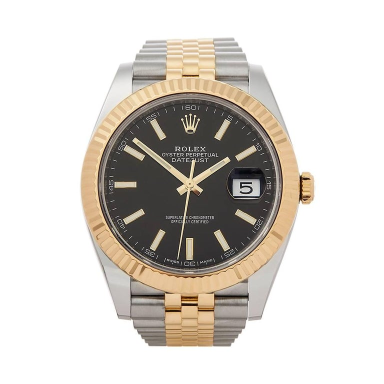 Rolex Datejust Stainless Steel and 18 Karat Yellow Gold Gents 126333
