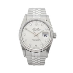 Rolex Datejust Stainless Steel and 18 Karat White Gold Gents 16234