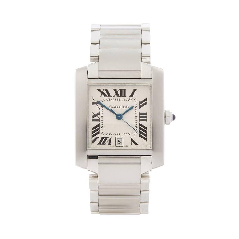 Cartier Tank Francaise Stainless Steel Unisex W51002Q3
