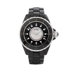 Chanel J12 Diamond Black Ceramic H2122