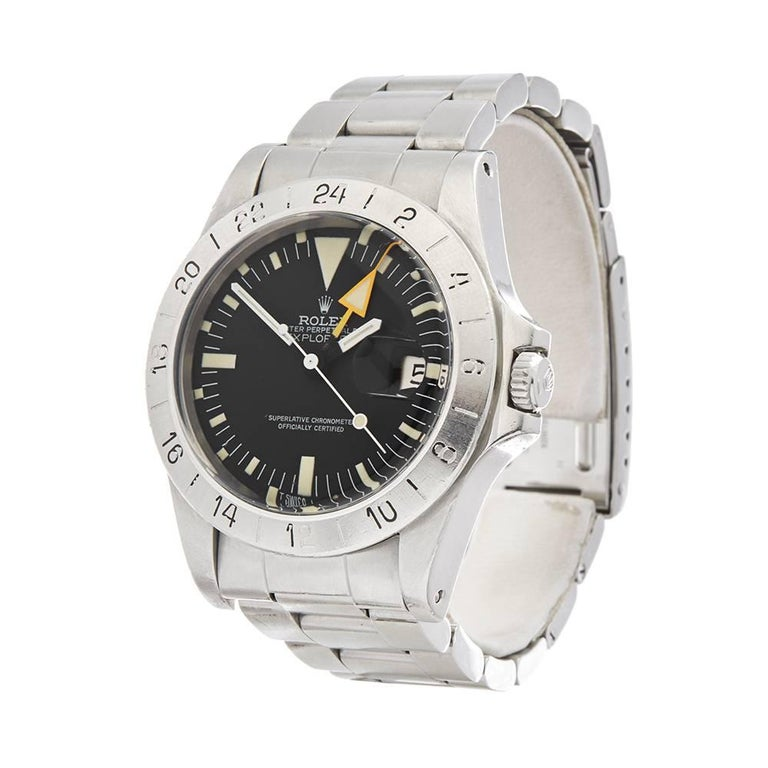 Ref: W4888 Manufacturer: Rolex Model: Explorer II Model Ref: 1655 Age:  Gender: Mens Complete With: Box & Guarantee Dial: Black Baton Glass: Plexiglass Movement: Automatic Water Resistance: Not Recommended for Use in Water Case: Stainless
