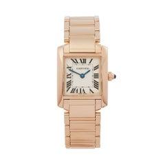 Cartier Tank Francaise 18 Karat Rose Gold Women's W500264H