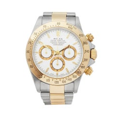 Rolex Daytona Zenith Stainless Steel and 18 Karat Yellow Gold Men's 16523
