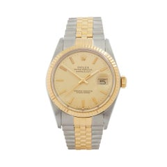 Rolex Datejust 36 Stainless Steel and 18 Karat Yellow Gold Men's 16013
