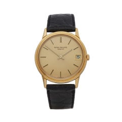 Patek Philippe Calatrava 18 Karat Yellow Gold