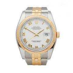 Rolex Datejust Stainless Steel and 18 Karat Yellow Gold 116233