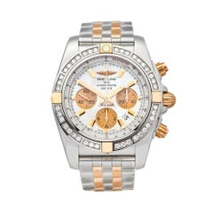 Breitling Chronomat Stainless Steel and 18 Karat Rose Gold IB011053/A697
