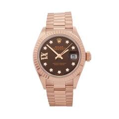 Rolex Datejust 28 18 Karat Rose Gold 279175
