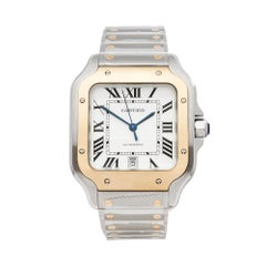 Cartier Santos de Cartier Stainless Steel and 18 Karat Yellow Gold W2SA0006