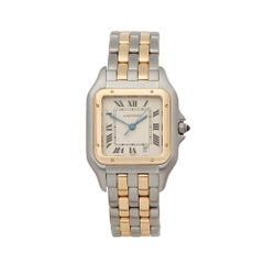 Cartier Panthere Stainless Steel and 18 Karat Yellow Gold 1100
