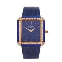 Patek Philippe Vintage Lapis Lazuli 18 Karat Yellow Gold 3727