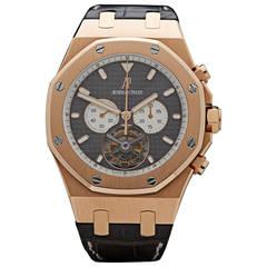Audemars Piguet Rose Gold Royal Oak XL Tourbillon Wristwatch Ref 25977