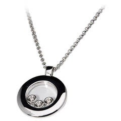 Chopard Diamond White Gold Happy Diamonds Necklace