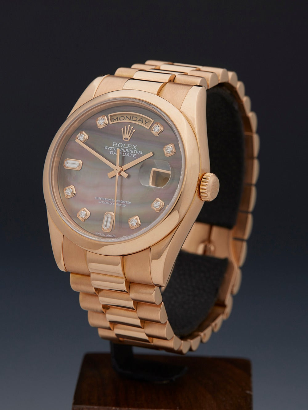 Rolex Lady's Rose Gold Mother-of-Pearl Dial Automatic Wristwatch Ref 118205 2