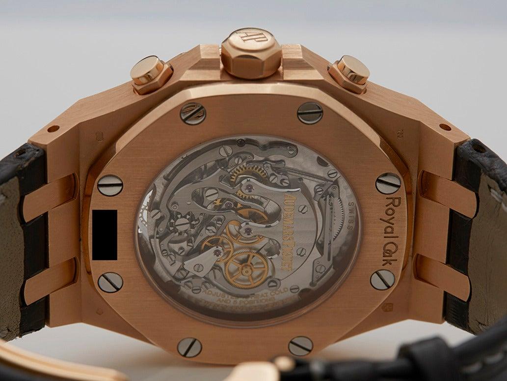 e68cafe7c03 Audemars Piguet Rose Gold Royal Oak XL Tourbillon Wristwatch Ref 25977 For  Sale 4
