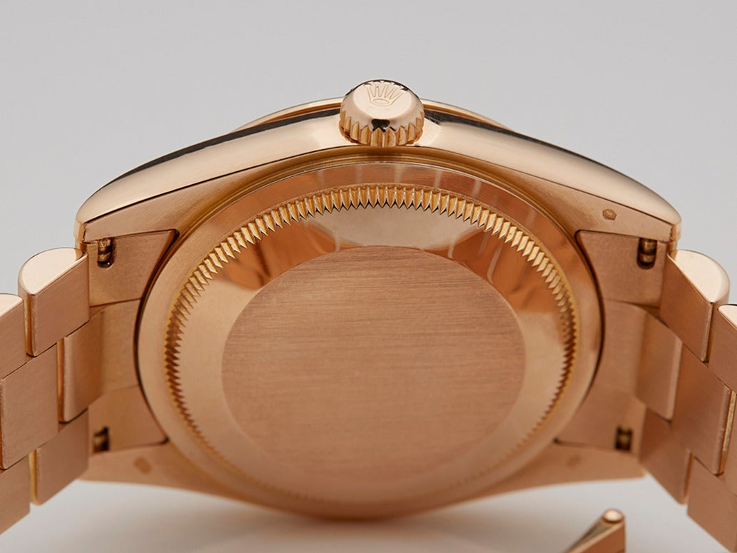 Rolex Lady's Rose Gold Mother-of-Pearl Dial Automatic Wristwatch Ref 118205 8